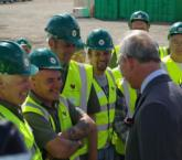 HRH Prince Charles, The Duke of Rothesay meets Hope Homes Scotland workforce at Knockroon