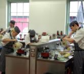 Chefs hard at work in Belling Hospitality Training Centre