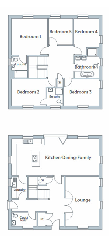 The Admiral floorplans